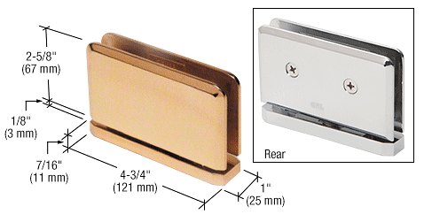 CRL Gold Plated Senior Prima 01 Series Top or Bottom Mount Hinge CRL SRPPH01GP