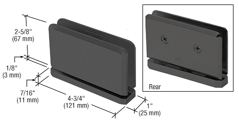 CRL Matte Black Senior Prima 01 Series Top or Bottom Mount Hinge CRL SRPPH01MBL