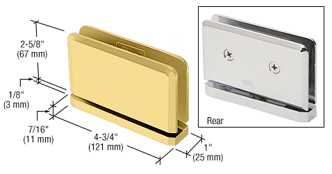 CRL Satin Brass Senior Prima 01 Series Top or Bottom Mount Hinge CRL SRPPH01SB