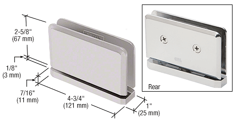 CRL Satin Nickel Senior Prima 01 Series Top or Bottom Mount Hinge CRL SRPPH01SN