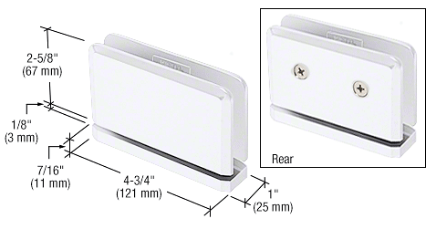 CRL White with Chrome Accent Senior Prima 01 Series Top or Bottom Mount Hinge CRL SRPPH01WC