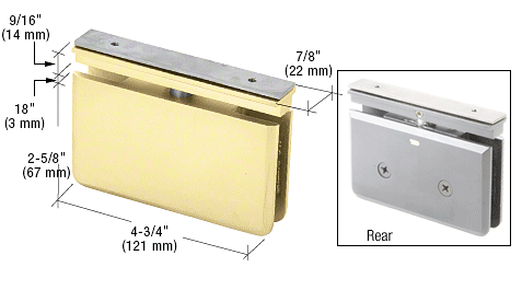 CRL Satin Brass Senior Prima 06 Series EZ-Adjust Top Mount Hinge CRL SRPPH06SB