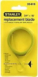 3/4 inch x 16 Foot Stanley Tape Measure Refil Blade - CRL ST32616
