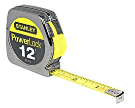 12 foot Stanley Powerlock Tape Rule 1/2 inch Wide - CRL ST33212