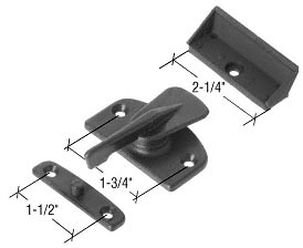 CRL Black Plastic Latch and Pull Fits Howard Doors CRL STB1497