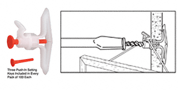 """CRL Toggler® Picture Hook Anchors for 3/8"""" to 1/2"""" CRL T11012"""