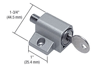Aluminum Keyed Mitey-Lok Patio Door Lock - CRL U9861