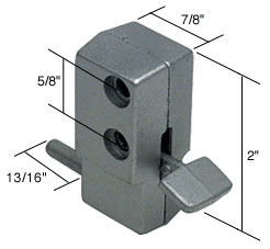 Aluminum Step-On Patio Door Lock - CRL U9877