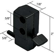 Black Step-On Patio Door Lock - CRL S4041