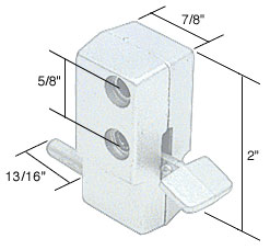 White Step-On Patio Door Lock - CRL U9879