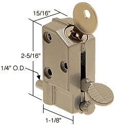 Keyed Step-On Patio Door Lock - CRL U9882