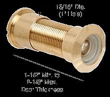 """CRL Brass Wide Angle Door Viewer; 1"""" Hole CRL U9896"""