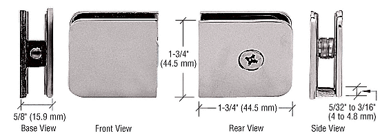 CRL Satin Nickel Traditional Style Fixed Panel U-Clamp CRL UC77SN
