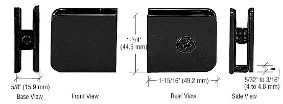 CRL Black Oversized Fixed Panel U-Clamp CRL UC79BL