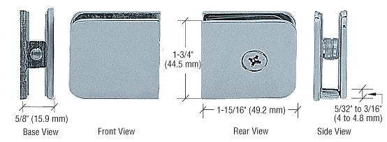 CRL Brushed Nickel Oversized Fixed Panel U-Clamp CRL UC79BN