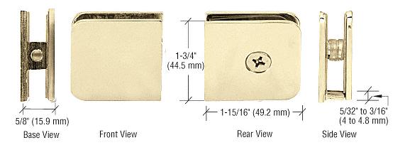 CRL Polished Brass Oversized Fixed Panel U-Clamp CRL UC79BR