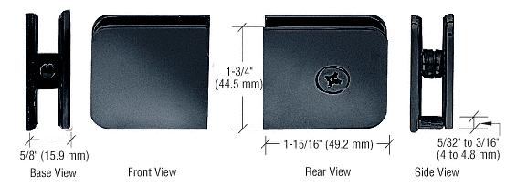 CRL Gun Metal Oversized Fixed Panel U-Clamp CRL UC79GM