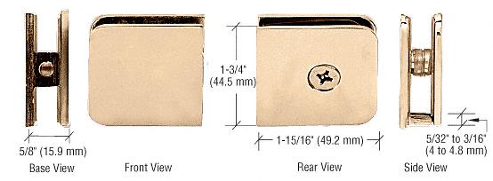 CRL Gold Plated Oversized Fixed Panel U-Clamp CRL UC79GP