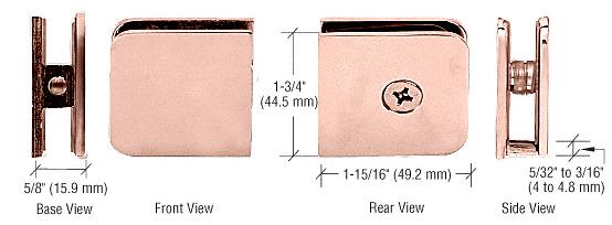CRL Polished Copper Oversized Fixed Panel U-Clamp CRL UC79PC0