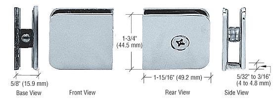 CRL Satin Chrome Oversized Fixed Panel U-Clamp CRL UC79SC