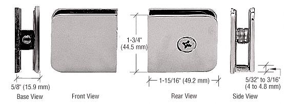 CRL Satin Nickel Oversized Fixed Panel U-Clamp CRL UC79SN