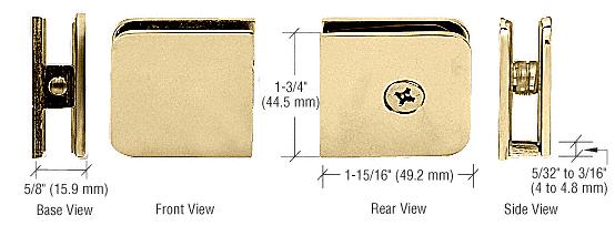CRL Ultra Brass Oversized Fixed Panel U-Clamp CRL UC79UBR