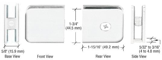CRL White Oversized Fixed Panel U-Clamp CRL UC79W