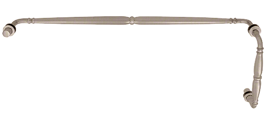 """CRL Brushed Nickel Victorian Style Combination 8"""" Pull Handle 24"""" Towel Bar CRL V1C8X24BN"""
