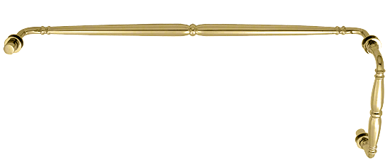 """CRL Polished Brass Victorian Style Combination 8"""" Pull Handle 24"""" Towel Bar CRL V1C8X24BR"""