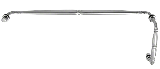 """CRL Polished Chrome Victorian Style Combination 8"""" Pull Handle 24"""" Towel Bar CRL V1C8X24CH"""