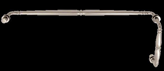"CRL Polished Nickel Victorian Style Combination 8"" Pull Handle 24"" Towel Bar CRL V1C8X24PN"