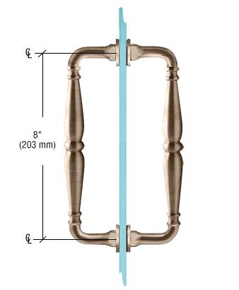 "CRL Brushed Bronze 8"" Victorian Style Back-to-Back Pull Handles CRL V1C8X8BBRZ"