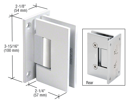 CRL White with Chrome Accents Vienna 037 Series Wall Mount Hinge CRL V1E037WC