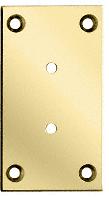 CRL Brass Vienna 037/537 Series Wall Mount Full Back Plate CRL V3BR