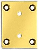 CRL Brass Vienna 074 Series Wall Mount Short Back Plate CRL V3SBYBR