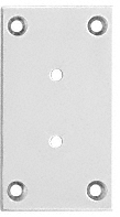 CRL Satin Chrome Vienna 037/537 Series Wall Mount Full Back Plate CRL V3SC