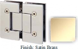 Satin Brass VAN Series with Square Edges 180 Degree Glass-To-Glass Hinge - VA782A_SBR