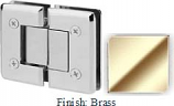 Brass VAN Series Beveled with Round Edges 180 Degree Glass-to-Glass Hinge - VA781A_BR