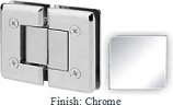 Chrome VAN Series Beveled with Round Edges 180 Degree Glass-to-Glass Hinge - VA781A_CR