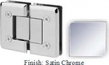 Satin Chrome VAN Series Beveled with Round Edges 180 Degree Glass-to-Glass Hinge - VA781A_SCR