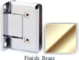 Brass VAN Series Beveled with Round Edges Wall Mount Full Back Plate Hinge  - VA781B_BR