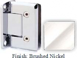 Brushed Nickel VAN Series Beveled with Round Edges Wall Mount Full Back Plate Hinge - VA781B_BN