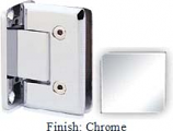 Chrome VAN Series Beveled with Round Edges Wall Mount Full Back Plate Hinge - VA781B_CR