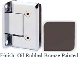 Oil Rubbed Bronze Painted VAN Series Beveled with Round Edges Wall Mount Full Back Plate Hinge - VA781B_ORB