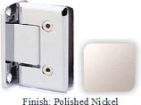 Polished Nickel VAN Series Beveled with Round Edges Wall Mount Full Back Plate Hinge - VA781B_PN