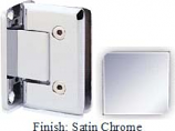 Satin Chrome VAN Series Beveled with Round Edges Wall Mount Full Back Plate Hinge - VA781B_SCR