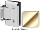 Brass VAN Series Beveled with Round Edges Wall Mount Short Back Plate Hinge - VA781C_BR