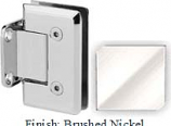 Brushed Nickel VAN Series Beveled with Round Edges Wall Mount Short Back Plate Hinge - VA781C_BN