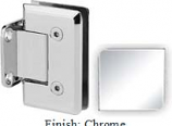 Chrome VAN Series Beveled with Round Edges Wall Mount Short Back Plate Hinge - VA781C_CR