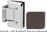Oil Rubbed Bronze Painted VAN Series Beveled with Round Edges Wall Mount Short Back Plate Hinge - VA781C_ORB